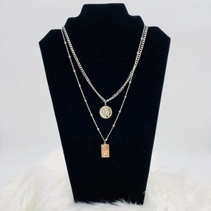 Jewelry - Layered necklace Pendant: Gold Bar & Coin Pendant